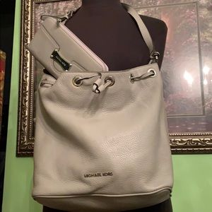 Michael Kors leather bag with matching wallet